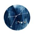 cancer zodiac constellation vector image vector image