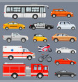 car side view set vector image vector image