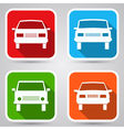 Cars flat icons vector image vector image