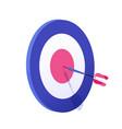 cartoon arrow exactly on target graphic vector image