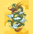 chinese dragon colorful vector image