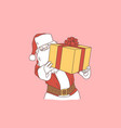 christmas gift new year surprise concept vector image vector image