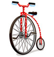 circus bicycle isolated on white background vector image