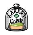 color vintage bakery emblem vector image vector image