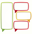 Colorful speech bubble frames vector image vector image