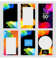 colorful stories templates collection transparent vector image