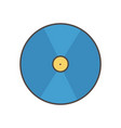 compact disk social media icon vector image