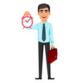 concept handsome confident business man vector image