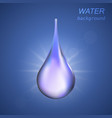 cosmetic background with water drop vector image