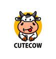 cute cow cartoon logo icon vector image vector image