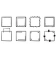 doodle frame collection handdrawn line style vector image vector image
