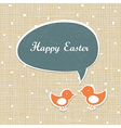 easter card design retro vector image