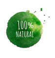 eco label isolated vector image vector image