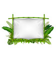 empty frame made of bamboo vector image vector image