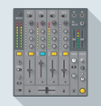 flat style sound dj mixer vector image vector image