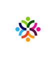 flower people logo icon design vector image vector image