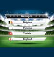 football championship group g soccer world vector image