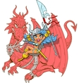 Girl Dragon Rider vector image vector image