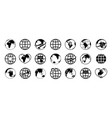 globe world earth icons global map for travel vector image