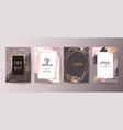 gold pink brochure flyer invitation card vector image vector image