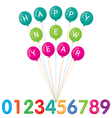 Happy New Year and Numbers Set vector image