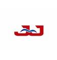 JJ Logo Graphic Branding Letter Element vector image vector image