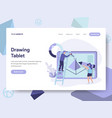 landing page template of drawing tablet concept vector image vector image