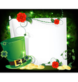 Leprechaun hat entwined with ivy vector image vector image
