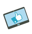 Like tablet flat icon vector image vector image