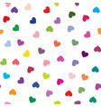 love heart background romantic holiday seamless vector image