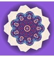 Mandala design Ethnic ornament Template for menu vector image vector image