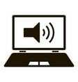 modern sound laptop icon simple style vector image