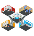 Multistore Exhibition Isometric Composition vector image vector image