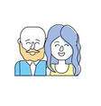 nice couple with hairstyle design vector image vector image