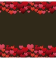 red and pink hearts vector image vector image