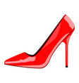 red woman shoe vector image vector image