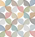 Retro colored geometric striped seamless pattern vector image vector image