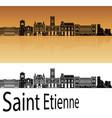 saint etienne skyline vector image