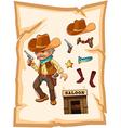 Saloon Cowboy vector image vector image