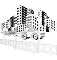 Santa Claus driving car vector image vector image