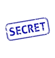 Secret rubber stamp vector image