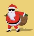 secret santa cartoon vector image vector image