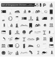 Set of Singapore stickers vector image vector image