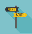 sign post icon north and south direction vector image vector image