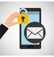 smartphone email message security vector image vector image