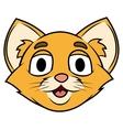 Smiling little kitten head vector image vector image
