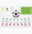 soccer characters field football vector image