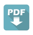 Square PDF download icon vector image vector image