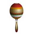 textured maraca icon vector image
