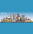thailand city skyline with color buildings and vector image vector image